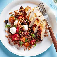 Roasted Chicken with Italian Wheat Berry Salad