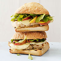 Grilled Chicken and Peaches on Ciabatta