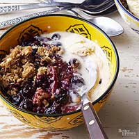 Grilled Berry Crumble