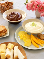 Chocolate-Peanut Butter Dip and Key Lime Pie Dip