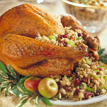 Cherry-Pecan Stuffed Turkey | Midwest Living