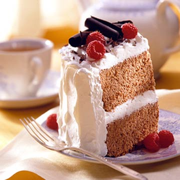 Valentine 39 s cocoa angel cake midwest living for Valentine cake recipes with pictures