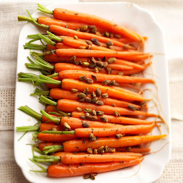 Glazed Carrots And Pistachios