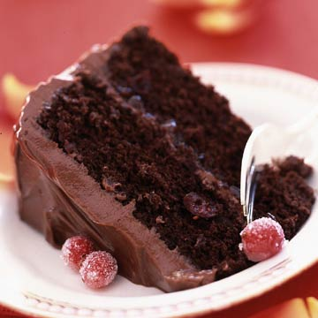 Luscious Cranberry-Chocolate Cake | Midwest Living