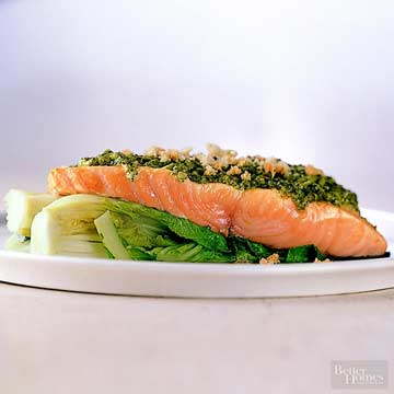 Salmon with Pesto Mayo