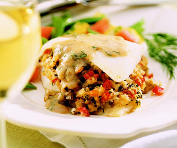 Crabmeat Stuffed Door County Whitefish Midwest Living