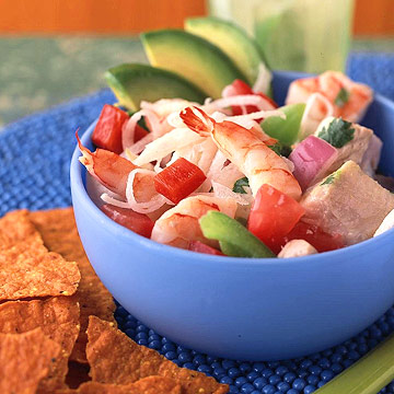 Shrimp and Tilapia Ceviche with Green and Red Peppers | Midwest Living