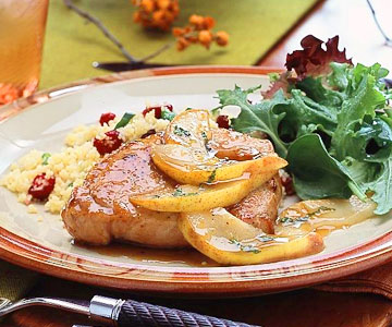 Pork Chops with Pear-Maple Sauce | Midwest Living