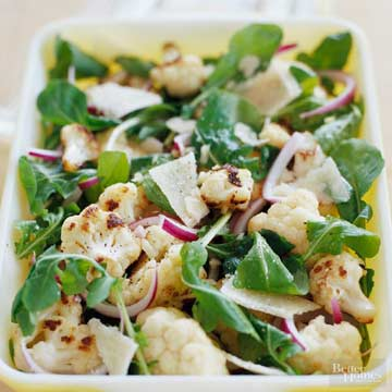 Arugula and Roasted Cauliflower Salad