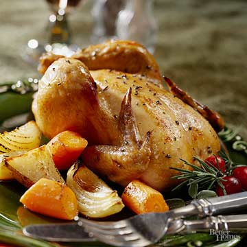 Cornish Game Hen with Roasted Root Vegetables