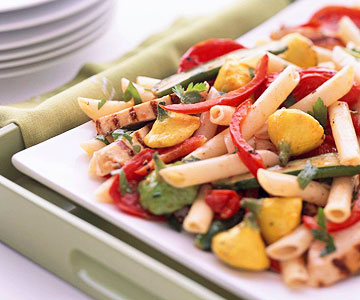 Grilled chicken and garden vegetable penne pasta with oven roasted grilled chicken and garden vegetable penne pasta with oven roasted tomatoes forumfinder Choice Image