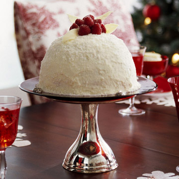 Red-and-White Christmas Cake