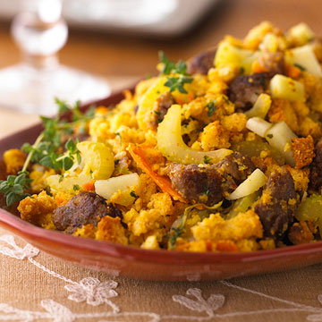 Sausage and Corn Bread Stuffing | Family Circle