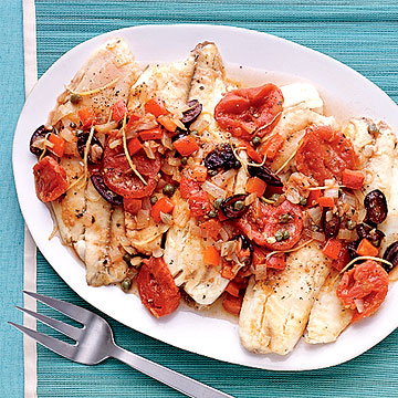 mediterranean poached fish family circle