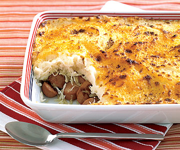 Potato Sauerkraut And Hot Dog Casserole
