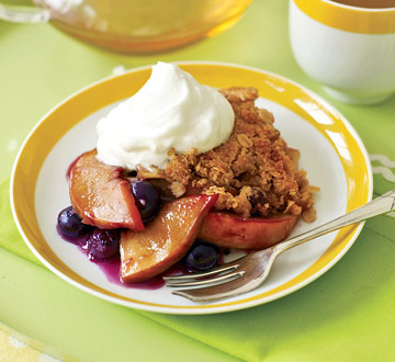 Peach and Blueberry Crisp   Family Circle