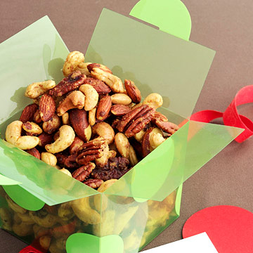nut mix in green box