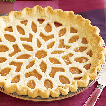 Lattice-Topped Pumpkin Pie