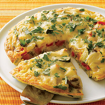 Smoky Turkey and Veggie Frittata
