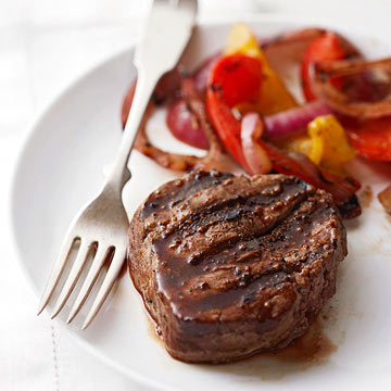 Grilled Steak and Peppers
