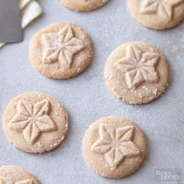 Brown Sugar Shortbreads on cookie sheet