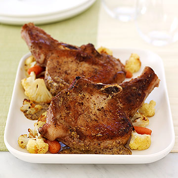 Pork Chops with Roasted Vegetables