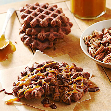 Chocolate Waffle Cookies Recipe — Dishmaps