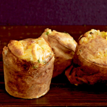 Scallion and Cheddar Popovers