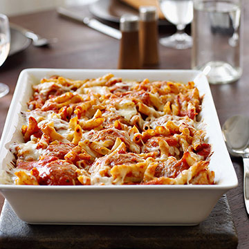 Baked Penne and Turkey Meatballs | Family Circle