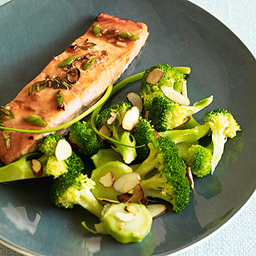 Teriyaki Salmon with Glazed Broccoli Salad