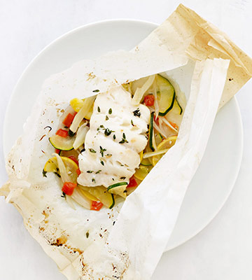 Cod and Ratatouille Packets