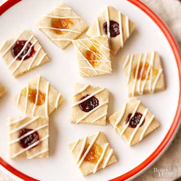 Thumbprint Cookie Squares