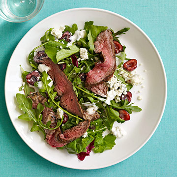 Steak Salad with Mixed Baby Greens