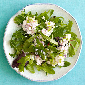 Mixed Greens with Seafood Salad