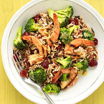 Grilled Shrimp and Cold Rice Salad