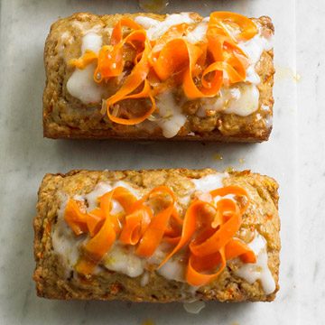 Carrot Bread with Cream Cheese Icing