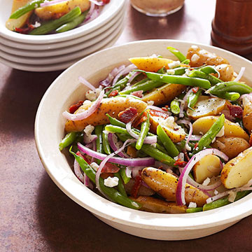 Fingerling Potato Salad with Honey-Thyme Vinaigrette..