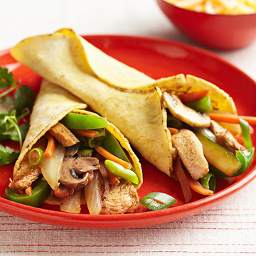 Turkey-Vegetable Fajitas