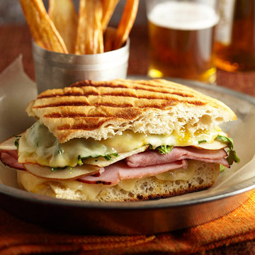 Ultimate Grilled Cheese and Ham Panini with Parsnip Fries ...