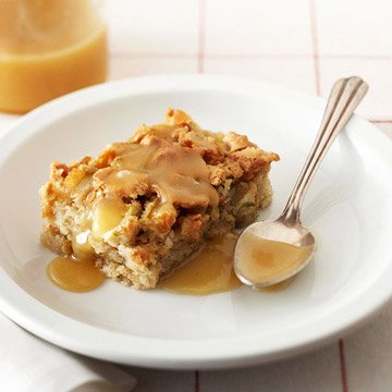 Rosemary Ward's Apple Cake with Butter Rum Sauce | Midwest Living
