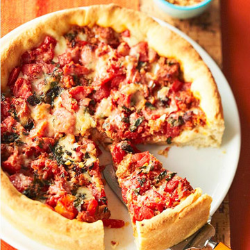 How to make best pan pizza at homemade cheesecake