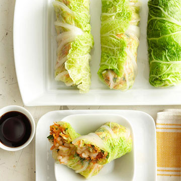 cabbage rolls spring rolls with shredded cabbage mushrooms and tofu ...