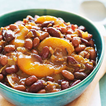 Peach-Bacon Baked Beans