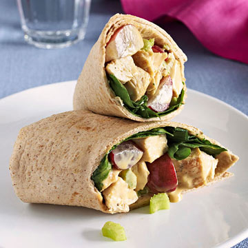 Honey-Dijon Chicken and Spinach Wraps