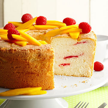 Raspberry Swirl Angel Food Cake Midwest Living