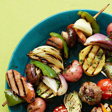 Balsamic-Glazed Kielbasa Skewer