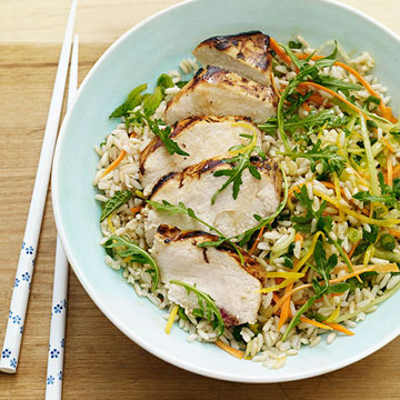 Grilled Citrus Chicken Rice Bowl | Family Circle