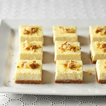 cheesecake bars eggnog cheesecake squares anything eggnog related ...