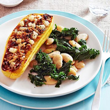 Pear-and-Pecan-Stuffed Squash