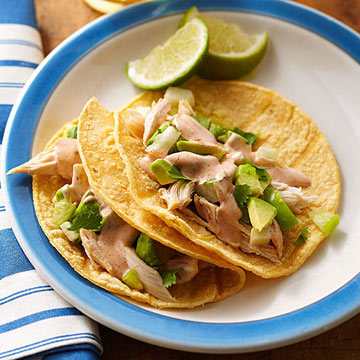 Chicken tacos with avocado salsa and ranch taco sauce midwest living chicken tacos with avocado salsa and ranch taco sauce forumfinder Image collections